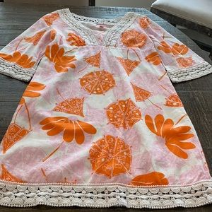 Lilly Pulitzer Linen Tunic/Dress/Cover Up Parasols